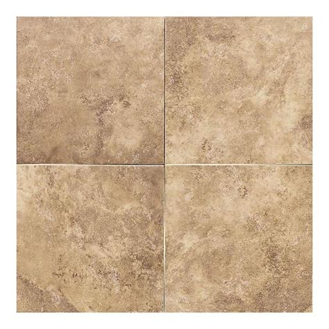 tile flooring 18 x 18 daltile salerno marrone chiaro 18 in x 18 in glazed ceramic floor and wall tile 18 sq ft