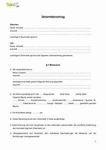 Mietvertrag Kostenlos Pdf : untermietvertrag noknok ~ Frokenaadalensverden.com Haus und Dekorationen