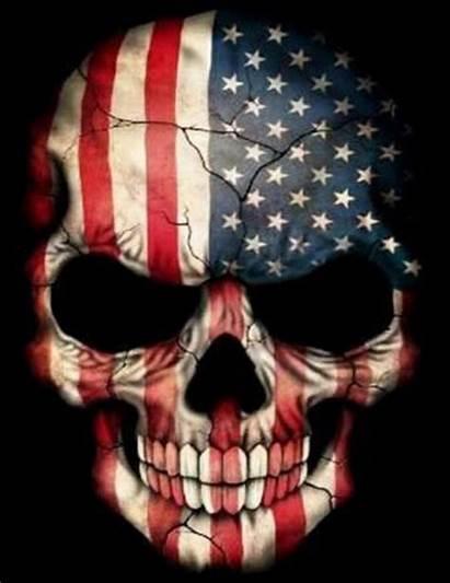 Skull American Flag Painting Skulls Diamond Wallpapers