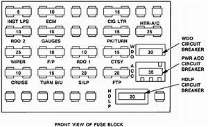 What Does The Shape Of The Fuse Box Look Like On My 1993