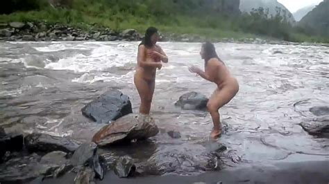 Two Indian Mature Womens Bathing In River Naked Hd Porn D9
