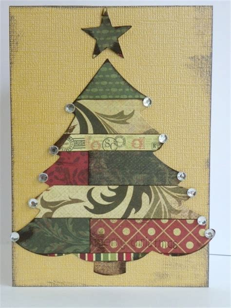 christmas tree cards  layered paper