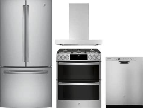 ge gereradwrh  piece kitchen appliances package  french door refrigerator gas range