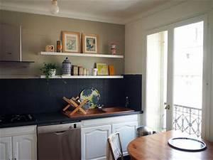 repeindre cuisine bois brilliant cuisine la dco de gg for With charming peindre un mur de couleur dans un salon 0 5 idees pour peindre un mur en couleur blog home