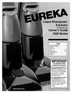 Eureka Carpet Cleaner 2500 User U0026 39 S Guide