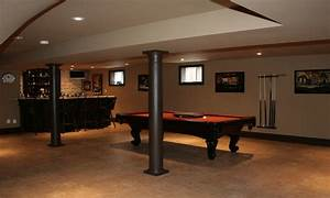 Before and after kitchen remodels, basement with rec room