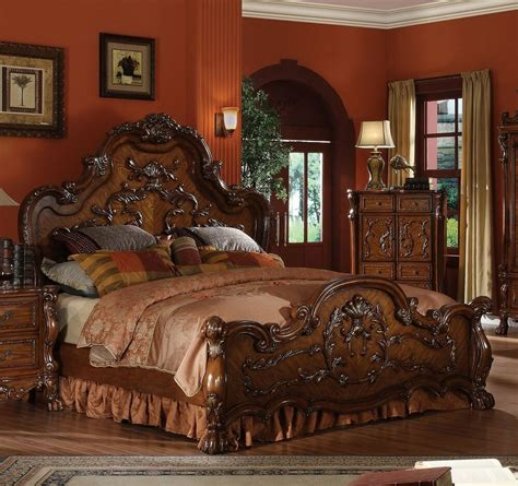 Cherry Wood Bedroom Set by Dresden Formal Traditional Antique 1pc Bed Furniture