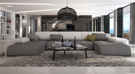 canap en l ce grand canapé d 39 angle en u conférera à votre salon