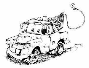 Cartoon Cars Mater Coloring Page | SEWING FUN | Pinterest