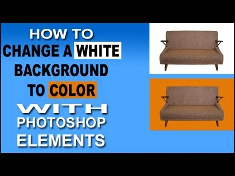 change  white background  color  photoshop elements