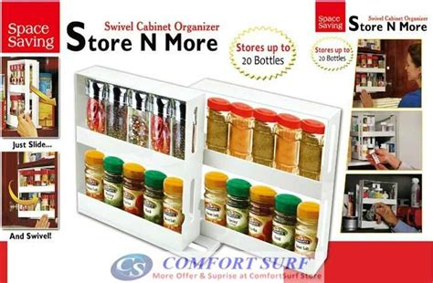 Space Saver Spice Rack As Seen On Tv by As Seen On Tv Swivel Store Space Saving Organizer Ebay