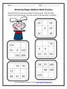 Mixed Up Magic Addition Math Puzzles Worksheet For Second Grade Go Back To Our Second Grade Math Worksheets Addition Fluency Drills Worksheets Common Core State Standards 2 Oa 2 Description This Second Grade Grade 2 Math Worksheet Series Has