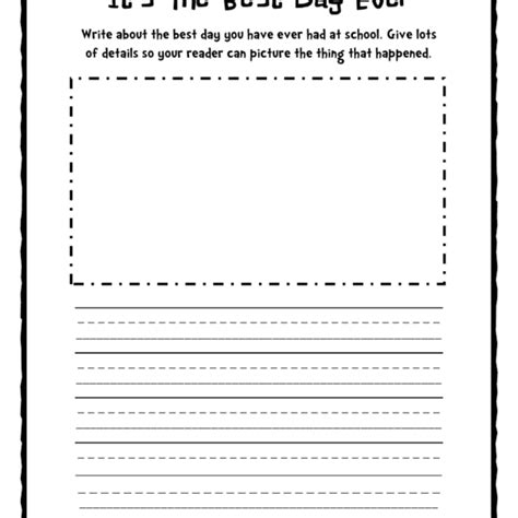 picture writing worksheets for grade 1 1st grade writing prompts worksheets homeshealth within