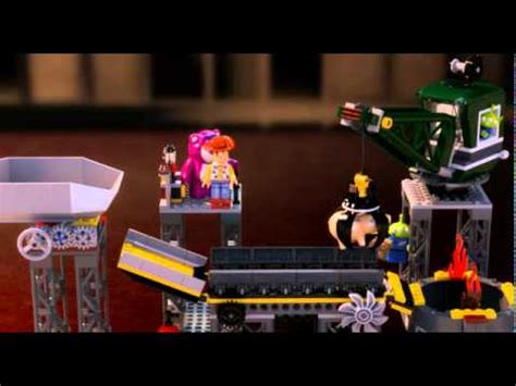toy story  trash compactor escape lego  youtube