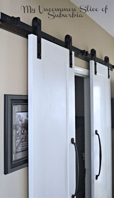 hometalk maximize a small space with barn doors