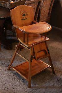 vintage metamorphic folding wood high chair play chair