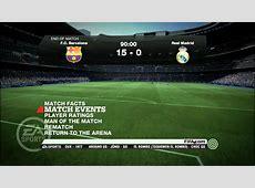 FIFA 11 PC Biggest Win Barcelona 150 Real Madrid YouTube