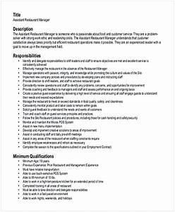 Restaurant Management Resume Examples Hotel And Restaurant Management