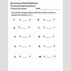Printable Seventh Grade Math Worksheets  Learning Printable