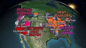 Dangerously hot weather in place for much of country on ...