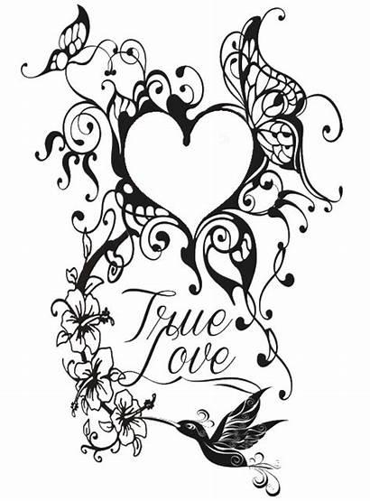 Tattoo Hart Kleurplaten Volwassenen Coloriage Voor Valentin