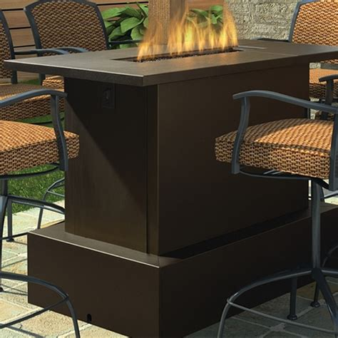 bar height patio table with fire pit key west fire pit table bar height