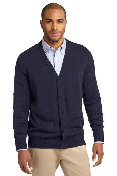mens black sweater port authority cardigan sweater sw302 39 s value v neck