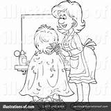 Hair Salon Stylist Clipart Coloring Pages Beauty Illustration Bannykh Alex Royalty Rf Getdrawings sketch template