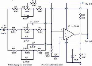 Circuit Diagram 3 Band Graphic Equalizer