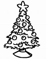 Coloring Tree Christmas sketch template
