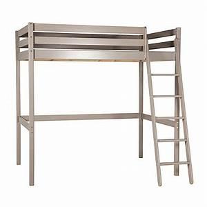 Table De Nuit Pour Lit Mezzanine : affordable lit mezzanine x cm happy gris with table chevet mezzanine ~ Teatrodelosmanantiales.com Idées de Décoration