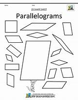 Parallelogram Parallelograms Shapes Printable Coloring Pages Math Shape 2d Trapezoids Grade Clip Sheets Results sketch template