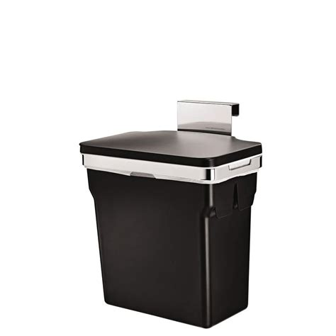simplehuman 10 liter black in cabinet trash can cw1643