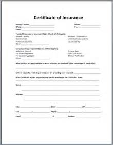 Insurance Certificate Templates
