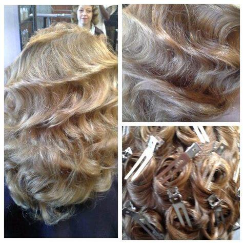 wedding pin curl wet set hairstyles   pin curls