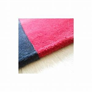 tapis de luxe contemporain bleu et rouge field par carving With tapis contemporain rouge