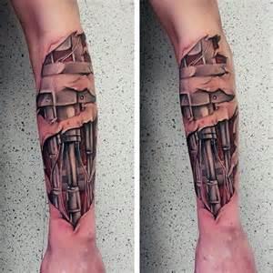 Terminator Arm Tattoo Designs Men
