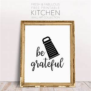 Fresh and Fabulous Free Printable Kitchen Wall Art
