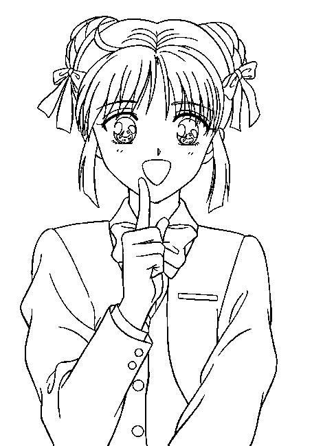 gratis anime kleurplaten voor kinderen