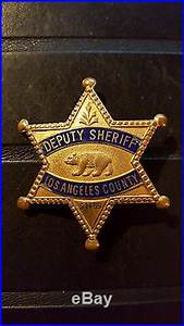 Obsolete Vintage Los Angeles County Sheriff Badge ...