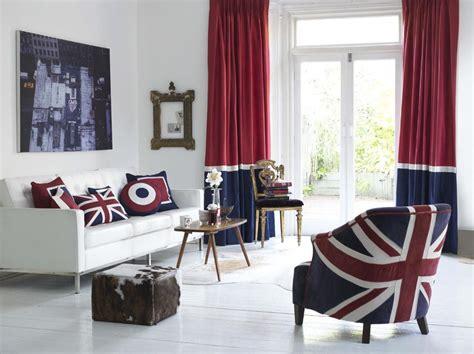 patriotic living room red white blue union jack decor