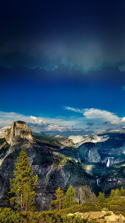 nq yosemite mountain wood summer nature wallpaper