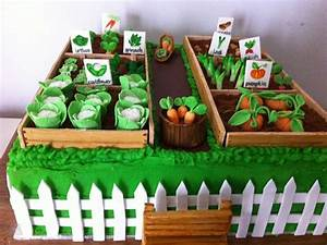 Vegetable garden cake gardening cake ideas pinterest for Vegetable garden cake ideas