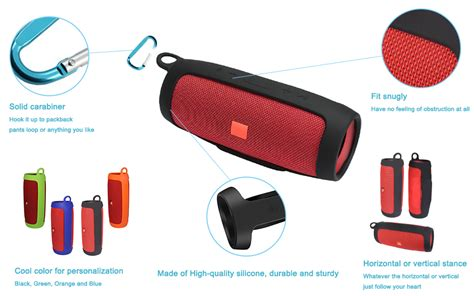 charge jbl carrying carabiner silicone speaker amazon case durable offered extra easy