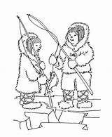 Coloring Inuit Fishing Pages Eskimo Friend Fun Sheet Printable Getcolorings sketch template