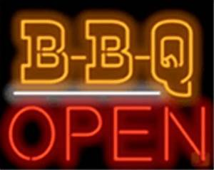 Bbq Open Barbeque Restaurant Board Neon Sign