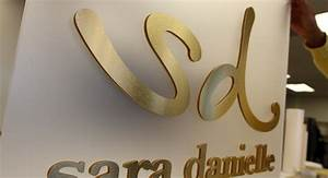 metal laminate logos acrylic with metal face impact signs With gold acrylic letters