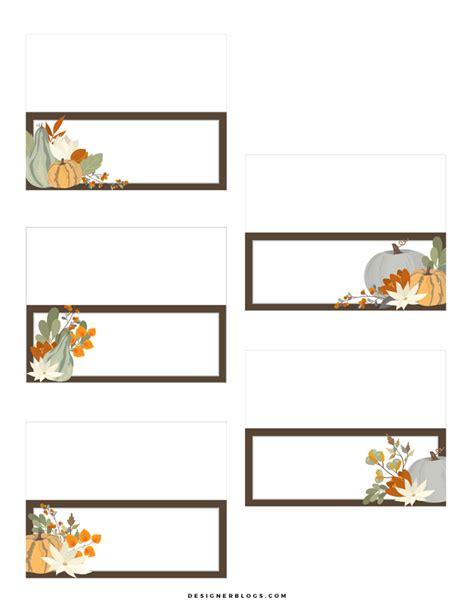 thanksgiving place cards printable designer blogs