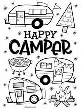 Coloring Camper Mrs sketch template