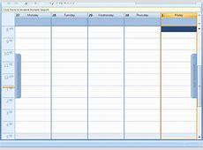Outlook Weekly Calendar Template – Calendar Template 2018